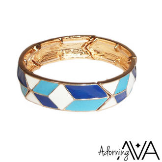 View Item Blue Panel Shaped Bracelet